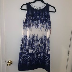 Vince Camuto Mini Blue and White Dress